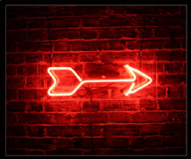 Arrow Neon Sign 1